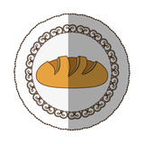 Emblem nomal bread icon. Emblem color nomal bread icon,  illustraction design image Royalty Free Stock Images
