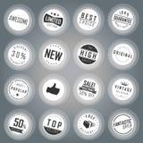 Emblem- och etikettuppsättning Arkivbild