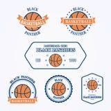 Emblem och symboler för basketsportlag korgar Royaltyfria Bilder