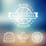 Emblem och symboler för basketsportlag Uppsättning 3 Royaltyfri Fotografi