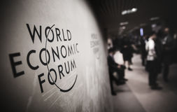 Free Emblem Of The World Economic Forum In Davos Royalty Free Stock Photo - 84730915