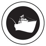Emblem of an old ship Stock Images