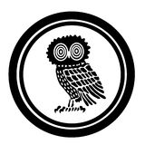 Emblem with an owl. On a white background Vector Illustration
