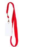 Emblem på röd kabel royaltyfria bilder