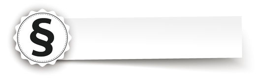 Emblem Paragraph Paper Banner Header. Paper banner with emblem and paragraph on the white Royalty Free Stock Photos