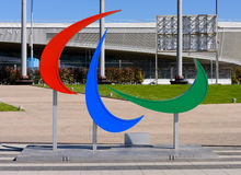 Emblem of the Paralympic games Royalty Free Stock Images
