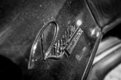 Emblem of personal luxury car Buick Riviera.