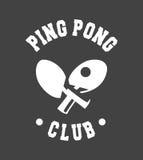 Emblem Ping Pong lizenzfreie abbildung