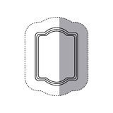 emblem plaque in blank icon Royalty Free Stock Photo