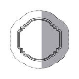 emblem plaque in blank icon Stock Photos