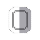 emblem plaque in blank icon Royalty Free Stock Photos