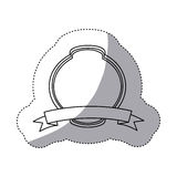 emblem plaque in blank icon Stock Images