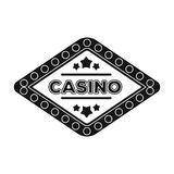 The emblem of the playing club with the inscription of the casino.Kasino single icon in black style vector symbol stock Royalty Free Stock Image