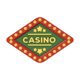 The emblem of the playing club with the inscription of the casino.Kasino single icon in cartoon style vector symbol Stock Image