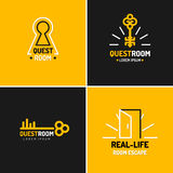The emblem for the quest room. Royalty Free Stock Images