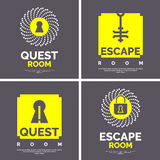 The emblem for the quest room. Stock Photography
