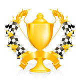 Emblem Racing. Computer illustration, isolated on the white Royalty Free Stock Photo