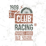 Emblem racing club old school Royalty Free Stock Photo