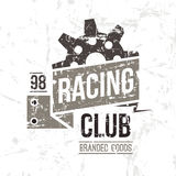 Emblem racing club in retro style Stock Photography
