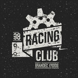 Emblem racing club in retro style Stock Photos