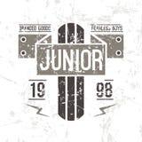Emblem racing junior in retro style royalty free illustration