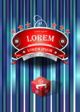 Emblem restaurant design Royalty Free Stock Images
