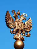 Emblem of Russia. Against the blue sky royalty free stock images