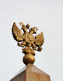 Emblem of Russia in bronze Royalty Free Stock Images