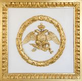 Emblem of Russian Federation. In Hermitage museum stock photos
