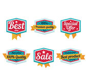 Emblem sale, discount super offer, favorable price Royalty Free Stock Photos