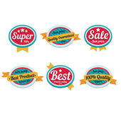 Emblem sale, discount super offer, favorable price Royalty Free Stock Images
