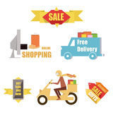 Emblem sale, discount super offer, favorable price Stock Photos