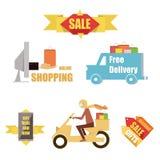 Emblem sale, discount super offer, favorable price Stock Photos