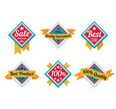 Emblem sale, discount super offer, favorable price Stock Image