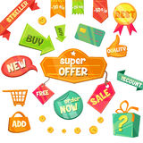 Emblem Sale, Discount Super Offer Vector Stock Images