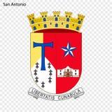 Emblem of San Antonio. City of USA. Vector illustration royalty free illustration