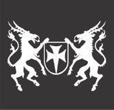 Emblem-Scheitelauslegung Stockbilder