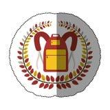 Emblem school bag icon design. Illustration image Royalty Free Stock Image