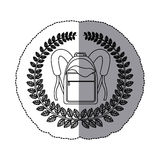 Emblem school bag icon design. Illustration image Stock Photo