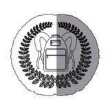 Emblem school bag icon design. Illustration image Stock Photos