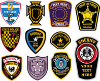 Emblem shield military badge  Royalty Free Stock Images