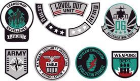 Emblem shield military badge logo Stock Image