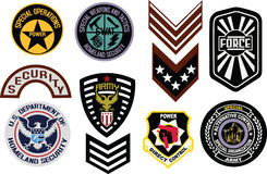 Emblem shield military badge logo Royalty Free Stock Photo