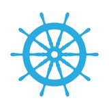 Emblem of ship wheel Royalty Free Stock Photography