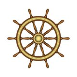 Emblem of ship wheel Stock Images