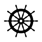 Emblem of ship wheel Stock Image