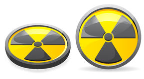 An emblem is a sign of radiation. Illustration isolated on white background Stock Photos