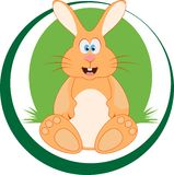 Emblem. Sitting rabbit Stock Image