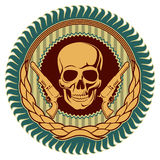 Emblem with skull. Stock Image