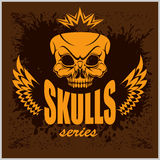 Emblem with skull Royalty Free Stock Images